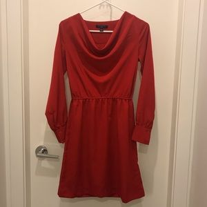 Red dress with inner layer